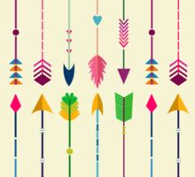 Colorful Tribal Arrows Pattern with Yellow Background Sticker