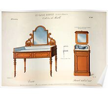 Le Garde Meuble Desire Guilmard 1839 0305 High Style Case Furniture Interior Design Poster