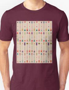 Vintage Arrow Pattern with Beige Background Unisex T-Shirt