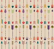 Vintage Arrow Pattern with Beige Background by kennasato