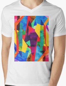 Colour Map Mens V-Neck T-Shirt