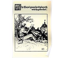 The Wonder Clock Howard Pyle 1915 0294 The Royal Goose Heard Playeth with the Golden Ball Poster