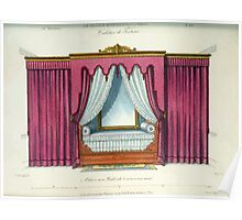 Le Garde Meuble Desire Guilmard 1839 0227 High Style Bed and Window Hanging Interior Design Poster