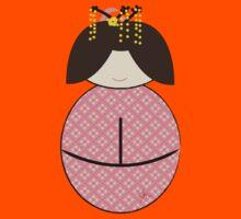 Geisha kokeshi doll Japanese Kids Clothes