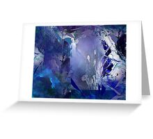 Facets of Blue III Greeting Card