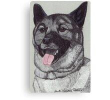 Norwegian Elkhound Vignette Canvas Print