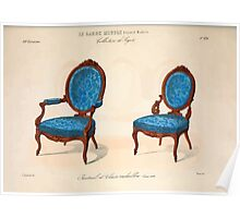 Le Garde Meuble Desire Guilmard 1839 0315 High Style Seat Furniture Interior Design Poster