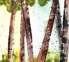 Birches lll by Sally Griffin