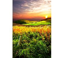 Sunset Over The Roaches Photographic Print
