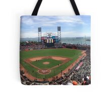 AT&T Park SF Giants Panorama Tote Bag