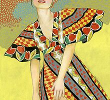 Waiting in a Floral Dress by Laura J. Holman