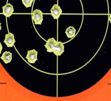 EVEN A MISS IS A KILL SHOT Sticker