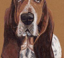 Basset Hound Vignette by Anita Meistrell Putman