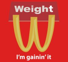 McDonalds Funny Weight I'm Gainin' It One Piece - Short Sleeve