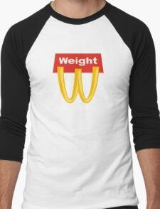 McDonalds Funny Weight I'm Gainin' It Men's Baseball ¾ T-Shirt