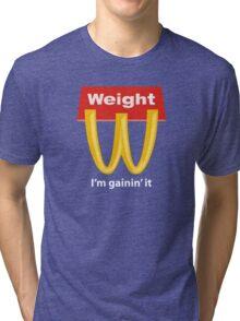 McDonalds Funny Weight I'm Gainin' It Tri-blend T-Shirt