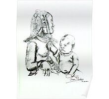 African Mother & Child (2) Poster