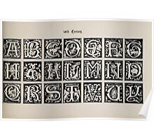 The Signist's Book of Modern Alphabets Freeman F Delamotte 1906 0207 Sixteenth 16th Century Poster