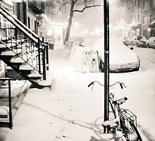 Snow - New York City - Night by Vivienne Gucwa