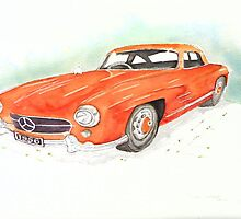 1956 Mercedes 300 SL Gullwing by VivianUwakwe