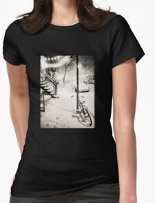Snow - New York City - Night Womens Fitted T-Shirt