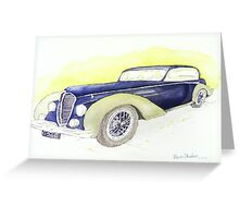 1946 Delahaye 135M Coupe  Greeting Card