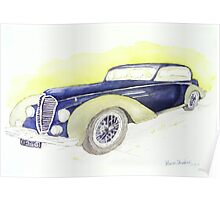 1946 Delahaye 135M Coupe  Poster