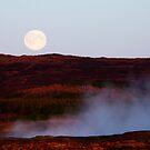 Full Moon Over Geothermal Fields by Ritva Ikonen