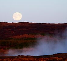 Full Moon Over Geothermal Fields by Ritva Ikonen