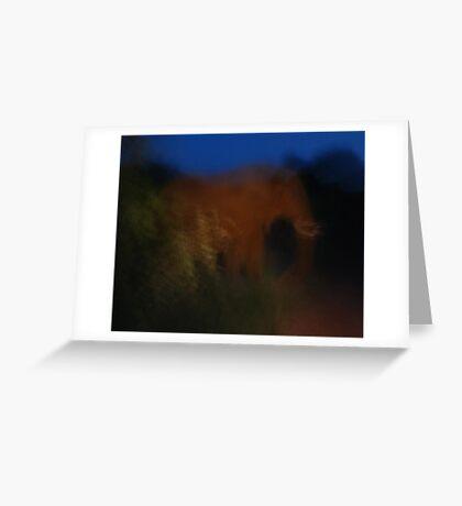 night blur Greeting Card