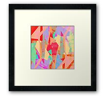 Pastel Colour Map Framed Print