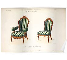 Le Garde Meuble Desire Guilmard 1839 0137 High Style Seat Furniture Interior Design Poster