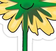 Flower back. Sticker