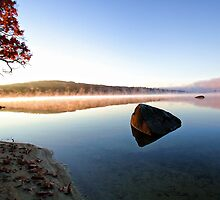 Autumn Sunrise - Crystal lake by T.J. Martin