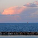 Red Sail at Evening by Mellinda