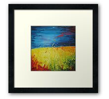 A bright summers day Framed Print