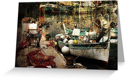 fishing boat by olga  hutsul