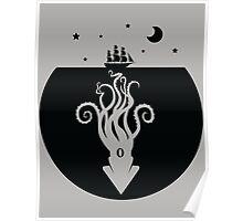 Kraken Night Life (Black) Poster