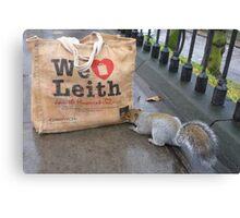Squirrel: We Love Leith Canvas Print