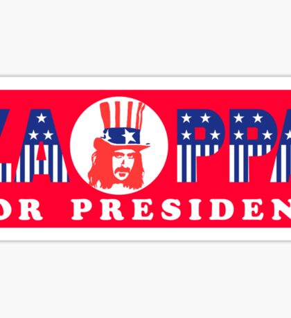 Zappa For President Sticker Sticker