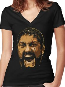 This is SPARTA! Women's Fitted V-Neck T-Shirt