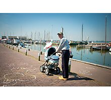 Grandpa on wooden shoes - Marken Photographic Print