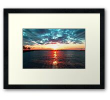 Sunrays © Framed Print