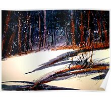 Landscape...On a Snowy Evening Poster