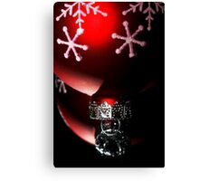 Christmas Red Reflections Canvas Print
