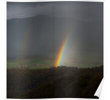 Rainbow over the Valley Poster