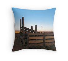 Current Cowboy by Bradley Blalock Throw Pillow