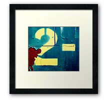 natural number following 1 and preceding 3 Framed Print