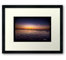 Beach Bubbles Sunset Framed Print