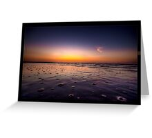 Beach Bubbles Sunset Greeting Card
